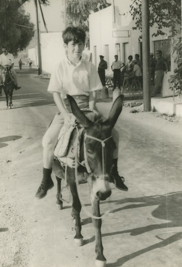 Bruce on Patmos donkey