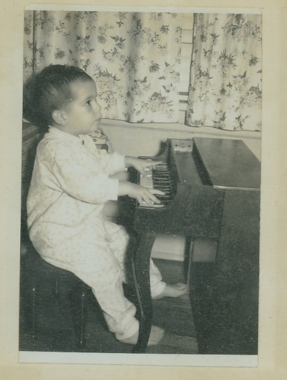 Bruce toddler at piano