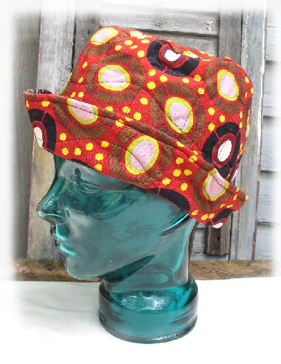 cotton hat african dots