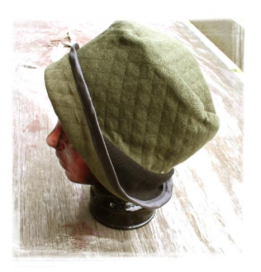 hat with brim green side