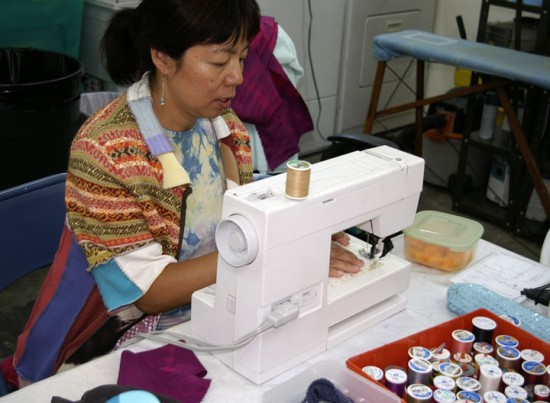 6. lily sewing